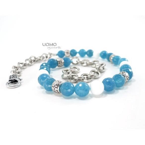 50c08e6ac3 CASTELLUCCIO bracciale con agata bianca e angelite collezione UOMO GIOIELLI  - Uomo Gioielli - brand